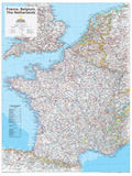 2014 France Belgium Netherlands - National Geographic Atlas of the World, 10th Edition Affischer av  National Geographic Maps