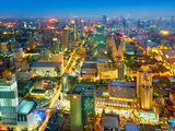 Thailand - Bangkok Cityscape View from Baiyoke Sky Tower Photographic Print by Jan Wlodarczyk