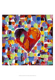Mosaic Heart III Prints by Carolee Vitaletti