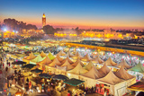 Djemaa El-Fna Square at Dusk, Marrakech, Morocco, Africa Photographic Print by Jan Wlodarczyk