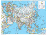 2014 Asia Political - National Geographic Atlas of the World, 10th Edition Print by  National Geographic Maps