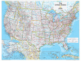 2014 United States Political - National Geographic Atlas of the World, 10th Edition Print by  National Geographic Maps