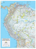 2014 Northwestern South America - National Geographic Atlas of the World, 10th Edition Poster von  National Geographic Maps