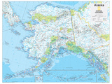 2014 Alaska - National Geographic Atlas of the World, 10th Edition Print by  National Geographic Maps