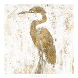 Gilded Heron II Prints by Jennifer Goldberger