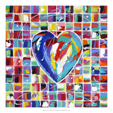 Hearts of a Different Color I Prints by Carolee Vitaletti