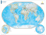 2014 Political World Map - National Geographic Atlas of the World, 10th Edition Posters par  National Geographic Maps