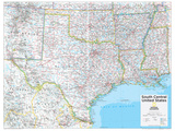2014 South Central US - National Geographic Atlas of the World, 10th Edition Posters by  National Geographic Maps