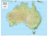 2014 Australia Physical - National Geographic Atlas of the World, 10th Edition Poster von  National Geographic Maps