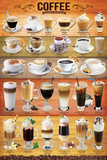 Coffee Mixology Collage Prints