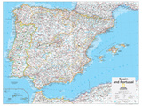 2014 Spain and Portugal - National Geographic Atlas of the World, 10th Edition Plakater af  National Geographic Maps