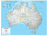 2014 Australia Political - National Geographic Atlas of the World, 10th Edition Posters por  National Geographic Maps