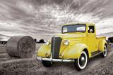 Chevrolet- Classic 1937 Yellow Pick-Up Prints