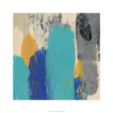 Teal Schmear II Limited Edition by Jennifer Goldberger