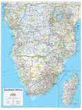 2014 Southern Africa - National Geographic Atlas of the World, 10th Edition Posters par  National Geographic Maps