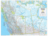 2014 Western Canada - National Geographic Atlas of the World, 10th Edition Prints by  National Geographic Maps