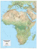 2014 Africa Physical - National Geographic Atlas of the World, 10th Edition Prints by  National Geographic Maps