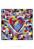 Mosaic Heart II Posters by Carolee Vitaletti