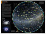 2014 Southern Sky - National Geographic Atlas of the World, 10th Edition Poster by  National Geographic Maps