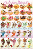 Ice Cream Sweet Collection Posters
