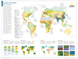 2014 Human Influences - National Geographic Atlas of the World, 10th Edition Affiches par  National Geographic Maps