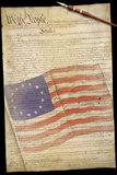 US Constitution 13 Colonies Flag Overlay Posters
