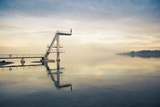 Girl Diver Stands on Diving Platform About to Dive into Beautiful Lake Photographic Print by Ashley Cameron