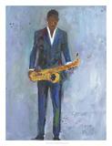Sax in a Blue Suit Prints by Samuel Dixon