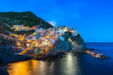Manarola, Cinque Terre at Twilight Photographic Print by Fadi Al-Barghouthy