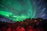 Dimmuborgir Lava Formation Northern Lights Akureyri North Iceland Europe Photographic Print by Renato Granieri