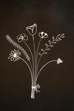Flowers on Blackboard Photographic Print by Anjo Kan