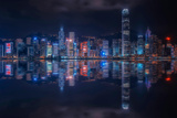 Hong Kong Reflection Cityscape Photographic Print by Emmanuel Charlat