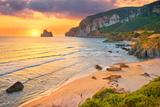 Pan Di Zucchero at Sunset Time, Masua Village Beach, Sardinia Island, Italy Photographic Print by Jan Wlodarczyk