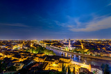Verona Panoramic View at Dusk Photographic Print by Carlo Amodeo