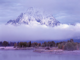 Oxbow Lake and Tetons, Wyoming Photographic Print by Chris Cheadle