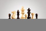 Strategy and Leadership Concept; Wooden Chess Figures Standing on Board Ready for Game Photographic Print by  Fisher Photostudio