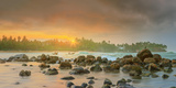 Romantic Untouched Tropical Beach on Sunset, Sri Lanka Photographic Print by Hanna Slavinska