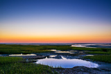 Salt Marsh Tidal Pools at Low Tide, Boat Meadow Beach, Eastham, Cape Cod, Massachusetts, USA Photographic Print by John Greim
