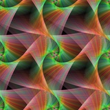 Seamless Color Fractal Veils Background Photographic Print by David Zydd
