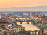 Sunset at Florence Photographic Print by Olena Suvorova