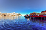 Red Fisherman House in Winter in Reine, Lofoten Islands, Norway Photographic Print by Felix Lipov