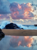Sunrise and Tide Pool Reflection. Kauai, Hawaii Photographic Print by Dennis Frates