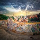 The Famous Park Guell in Barcelona, Spain Photographic Print by Hanna Slavinska