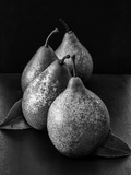 Black and White Image of 4 Pears Photographic Print by Carin Victoria Harris