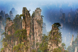 China, Zhangjiajie, Wulingyuan Scenic Area, Zhangjiajie National Forest Park Photographic Print by Tuul And Bruno Morandi