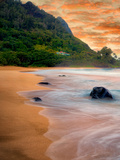 Tunnels Beach and Bali Hai at Low Tide. Kauai, Hawaii Photographic Print by Dennis Frates