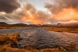 Golden Sunrise at Loch Ba in Glencoe, Scotland Uk Photographic Print by Tracey Whitefoot