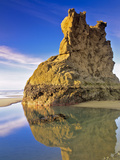 Low Tide Pools at Bandon Beach Oregon Photographic Print by Dennis Frates