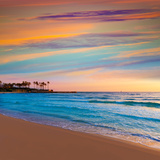 Javea Xabia El Arenal Beach Sunrise in Mediterranean Alicante Spain Photographic Print by Antonio Balaguer Soler
