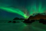 Northern Lights - Aurora Borealis Shine in Sky Photographic Print by Emma Sampson